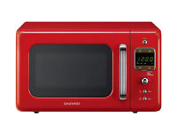 Retro Style Microwave - Red - 20 l