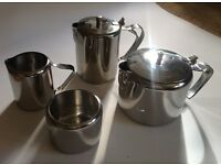 Vintage Retro Mid Century 1960s Viners Tea and Coffee Pot Set with milk jug and sugar bowl