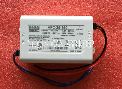 Ming Wei Apc-25-350 Waterproof Led Constant Current Power Supply 25w 25-70v350ma