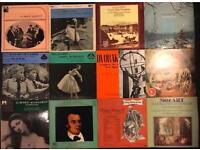 12 x vintage classical music vinyl LP's