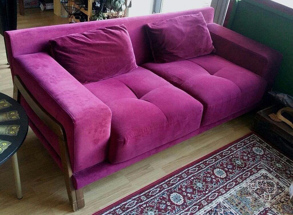 Doğtaş burgundy sofa | in Southwark, London | Gumtree