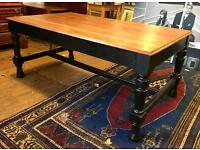 Large 19th Century Victorian Dining / Library Table