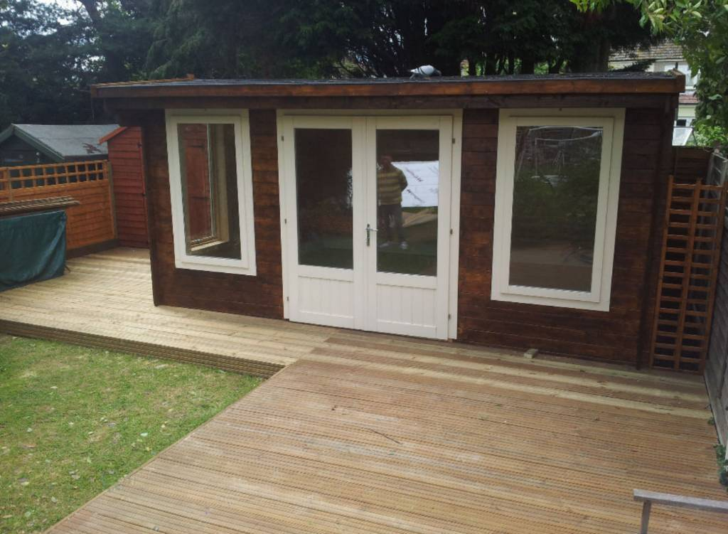 House garden handyman fencing sheds flat pack for Flat pack garden decking