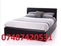 ROYAL DEAL* DOUBLE LEATHER BED FRAME + FREE 9 INCH MATTRESS £99