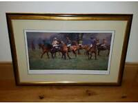 "Malcolm Coward Ltd Edition Signed Framed Print ""At the start Point to Point"""