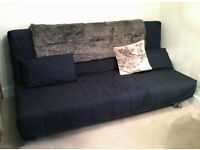 IKEA BEDDINGE LOVAS Three-seat sofa bed. Little used. Slate grey covers