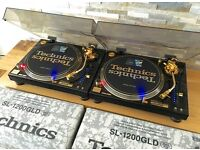 Technics 1200 GLD Pair – Mint Condition – Fully Boxed – Pair – Ortofon Gold - Lids LTD