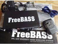 Ashdown FreeBass Wireless Bass Guitar Pack (Amplifier Head Mag ABM MiBass EVO)
