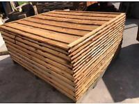 💧Brown Wayneylap Fence Panels ~ Pressure Treated ~ Excellent Quality