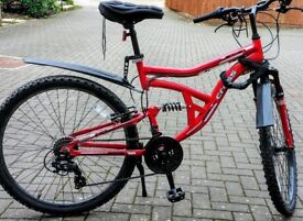 Cross(MEN) DXT300Dual Suspension Mountain Bike with hook on wall and more extras ( on pictures)