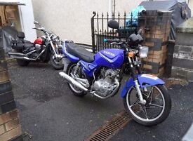 Sanya 125cc. 3124 miles. MOT. Recent service. Ideal learner or commuter. Can deliver.