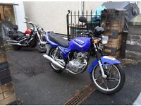 Sanya 125cc. 3124 miles. MOT. Recent service. Ideal learner or commuter. Can deliver.