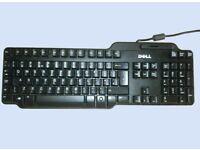 Job Lot of 10 x Dell Smart Card Reader USB Keyboard UK QWERTY SK-3205 RT7D60