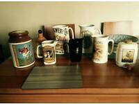 8 collectable pub water jugs