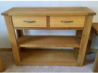 Next Cambridge Oak Console Table