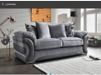 Large 2 seat Couch, armchair and cuddle chair