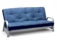 Blue sofa bed hardly used- quick sale needed
