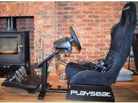 PLAYSEAT Evolution Alcantara & Logitech G29 Driving Force Racing Wheel, Pedals & Shifter