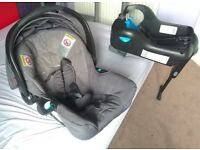 TEUTONIA 0-13Kg Stage 1 rear facing car seat baby carrier with sun cover and base