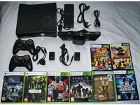 Xbox 360 slim 250gb with controllers, Kinect, Games and more!!!