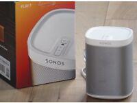 Two Sonos Play 1 Speakers - White - EXC - £220