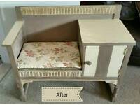 Vintage telephone table shabby chic