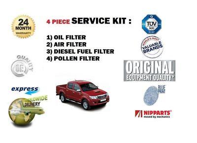 pour Toyota Hilux 2.5 D4D 3.0 D4D 2005- > Filtre à Pollen Huile Air carburant