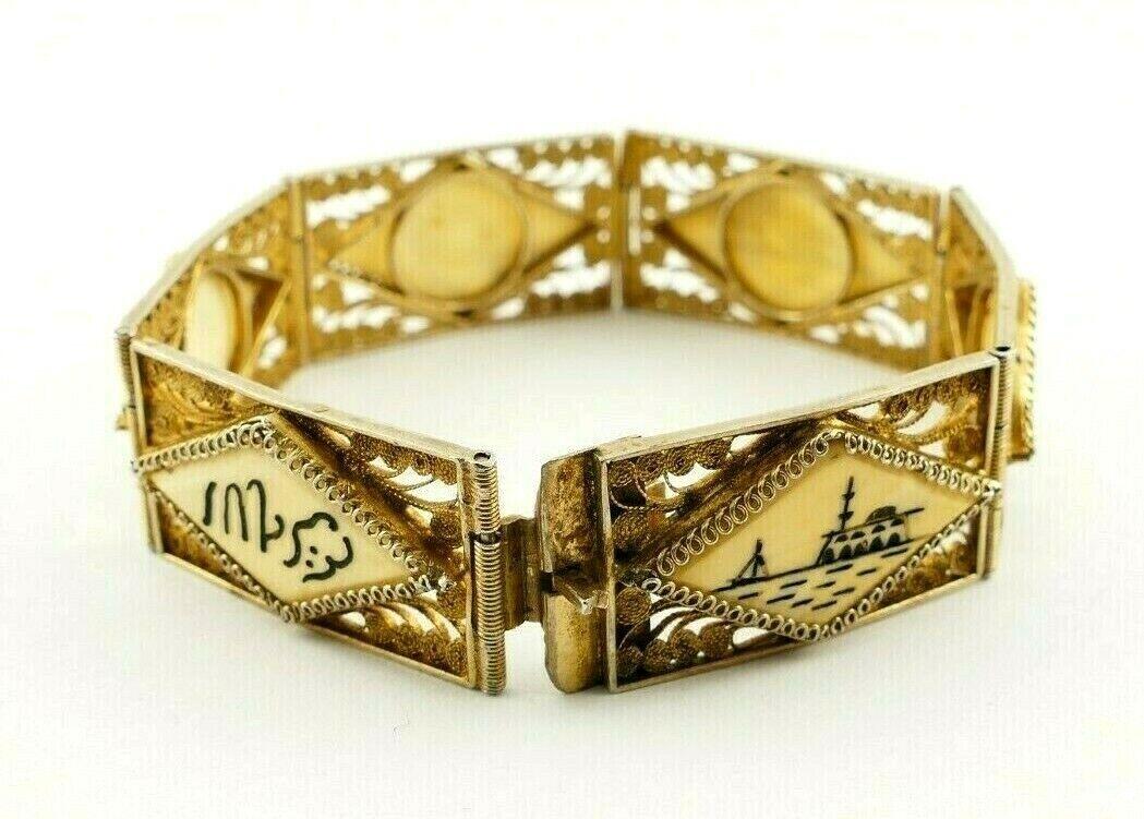 Art Deco Armband Jugendstil 800er Silber filigran gearbeitet 19.Jhd