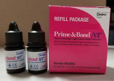 Prime Bond Nt 2 X 4.5 Ml Bottles By Dentsply Clearance