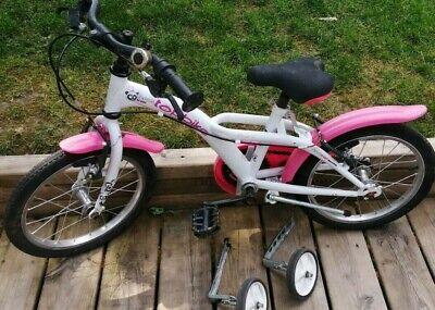 Vélo 16 pouces avec petites roues pour enfant de 4 à 6 ans