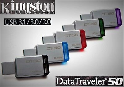 Kingston Usb-stick (Kingston DataTraveler DT50 USB 3.0/3.1 Stick 8GB 16GB 32GB 64GB 128GB USB Stick)