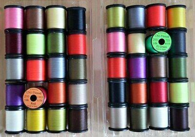".50 yd Spool...Fly Tying Mohair,Tinsel,Yarn, 8//0 Black /""Uni-Thread Combo/"""