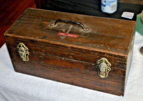 Vintage Handmade Fishing Tackle Box + EXTRAS