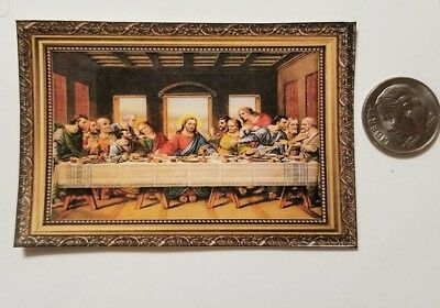 Miniature Dollhouse 1/12 Scale poster Pictures Wall Art Last Supper (Jesus Miniature)