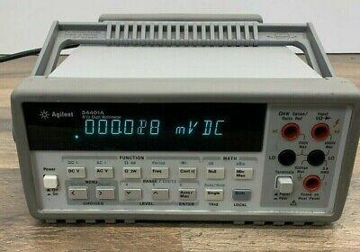 Agilent 34401a Digital Multimeter 6 12 Digit