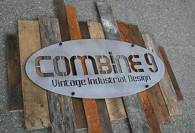 Custom Signs. Urbanmodernindustrial. Vintage Reclaimed Wood. Commercial. Steel