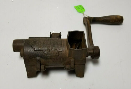 Antique Meat Tobacco Grinder Russell & Erwin MFG New Brittan Conn no 1