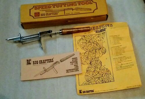 RC Rug Crafters - Speed Tufting Tool - in original box with instructions