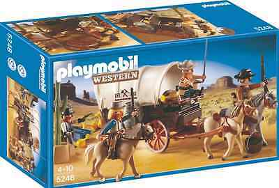 Playmobil Planwagen mit Überfall 5248 Neu OVP  Western Kutsche Cowboy Banditen