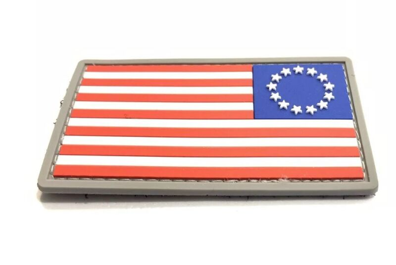 Morale Patch Betsy Ross USA Flag America Reverse First Flag  PVC 3d