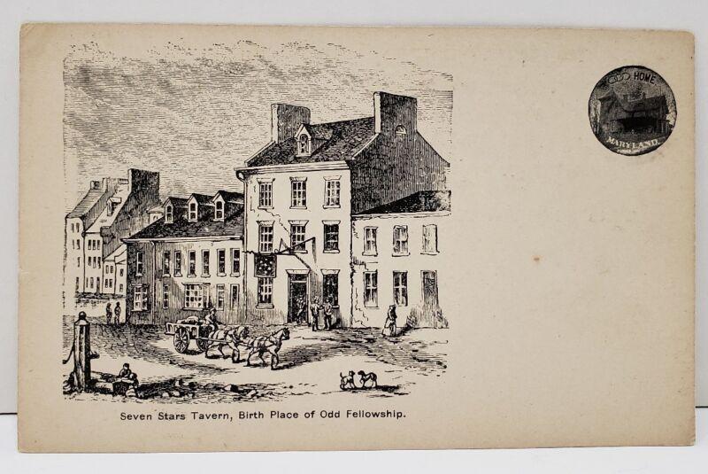 1903 I.O.O.F. 79th Convention Birthplace Baltimore Seven Stars Tavern Postcard