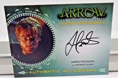 Thomas Flynn Arrow Season 2 Authentic Autograph Card JP James Pizzinato