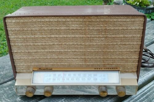 Orig 1959 GE Model T-210A MUSAPHONIC Dual Speaker TUBE RADIO Works-Sounds Great!