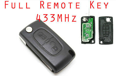 02A fits Remote Control Key Fob 2 Button Case For Peugeot 207 307 308 407 CE0536