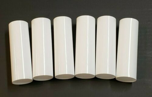 "SET OF 6 - 4"" WHITE PLASTIC EDISON STANDARD SOCKET CANDLE COVERS 1 1/4"" 50260JQ"