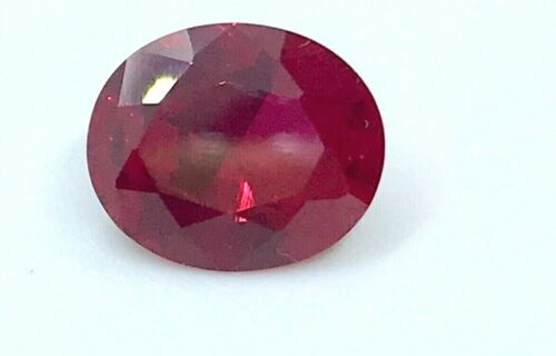 Lab created Oval Ruby 12x10 mm. 5.5ct