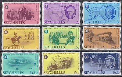 Seychellen 1976 ** Mi.375/83 Unabhängigkeit Independence USA Amerika [sq6749]