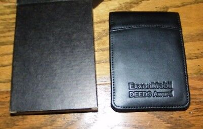 Black Note Pad 3x5 With Pad Of Paper Pen Holder Leeds Exxon Jotter Notepad