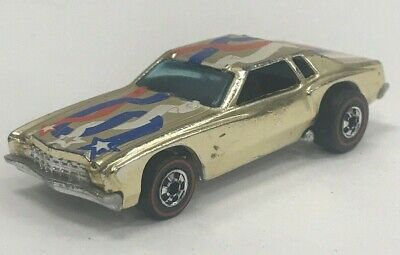 VTG 1974 Mattel Hot Wheels Flying Colors 9185 Lowdown Monte Carlo Redline Car