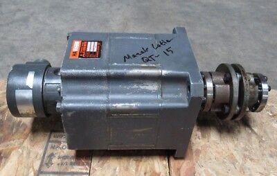 Mitsubishi Permanent Magnet Ac Servo Motor Ha100c From Mazak Lathe Qt-15